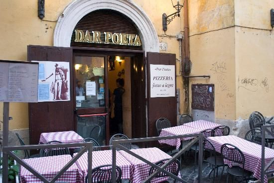 Dar Poeta, restaurant in Trastevere neighborhood