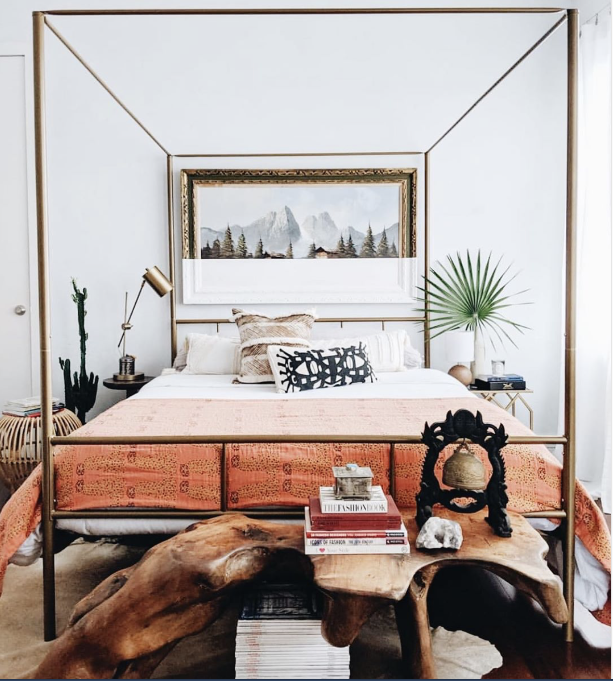 Novogratz Marion Canopy Eclectic Bedroom Canopy Bed Frame