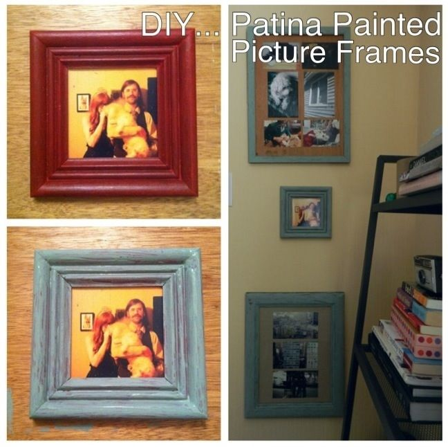 Diy patina painted picture frames patina paint painted picture diy patina painted picture frames solutioingenieria Images