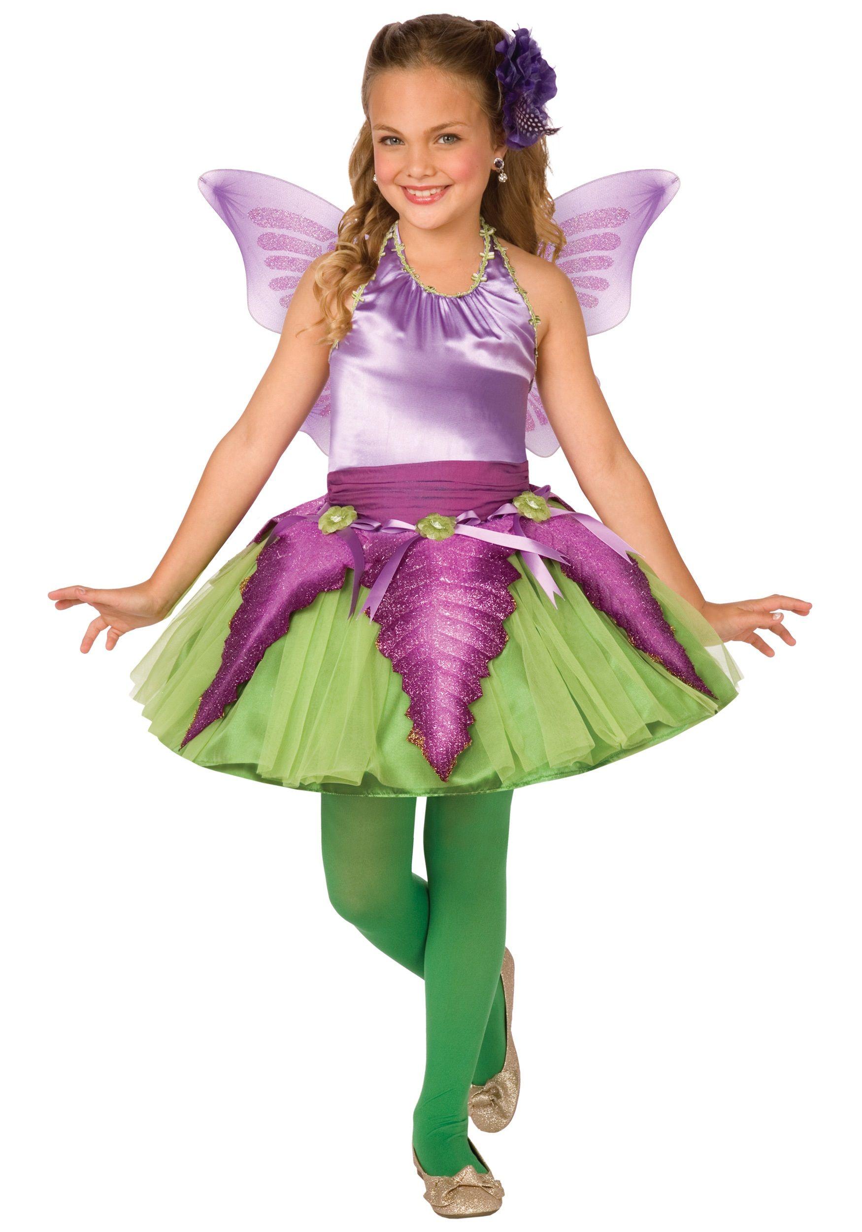 Child Purple Flower Fairy Costume | Shrek the Musical Jr ...