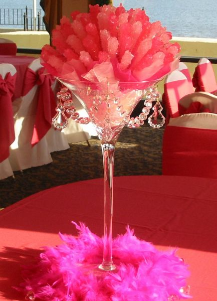 Rock candy centerpieces for weddings bar mitzvahs and