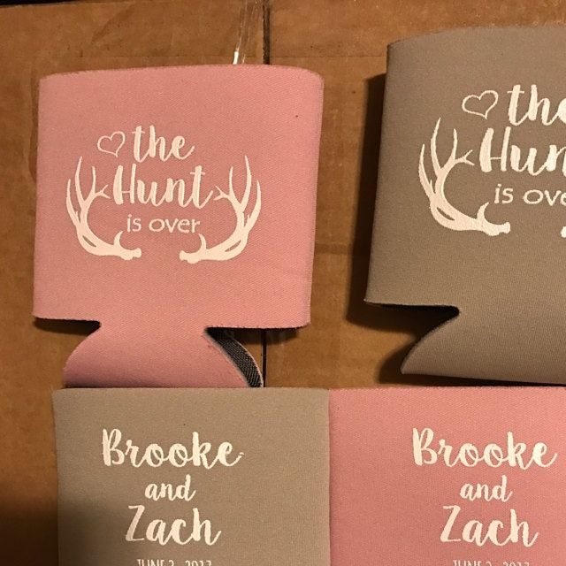 From MyWeddingStore On Etsy Personalized Can Coolers Shot Glasses Cups And Bags
