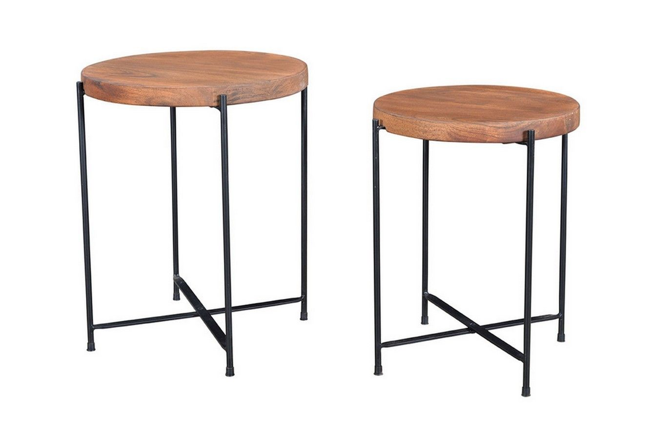Beistelltisch 2er Set Rund Kleinmobel Amp Beisteller Vintage Amp Retro Mobel Beistelltisch 2er Set Kleinmobel Tisch