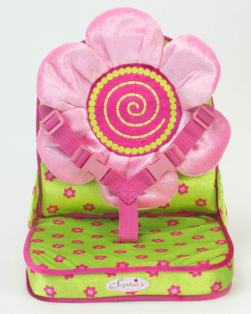 Amazon Doll Car Seat By Sophias In Pink Green Perfect For 18 Inch Dolls Or 15 Travel Carrier Toys Games