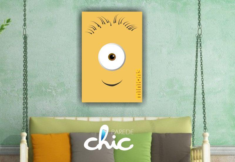 Desenho Minions Placa Decorativa Parede Chic www.paredechic.com.br Coleção de Placas decorativas modelos infantis. Decore sua parede #PlacaDecorativa #AdesivoDeParede #ParedeChic #DecoracaoDeParede #Decoracao #ideias #infantil #decoracaoinfantil
