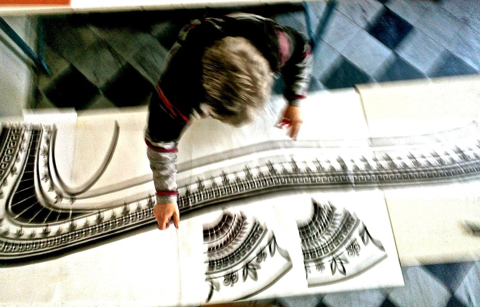 Preparazione del cartone per la stampa serigrafica