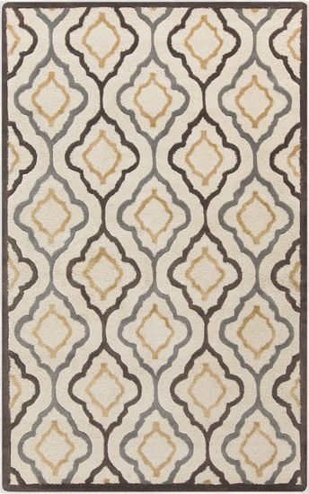Candice Olson Designed This Rug For Her Modern Classics Collection For Surya Great Contemporary Take On A Neutral Area Rugs Wool Area Rugs Geometric Area Rug