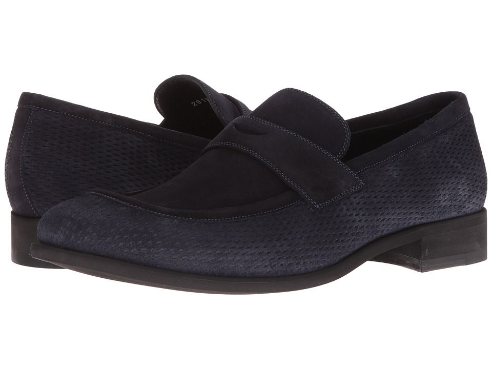 3344d911837 A. TESTONI A. TESTONI - NET SUEDE LOAFER (NAVY) MEN S SLIP-ON DRESS SHOES.   a.testoni  shoes