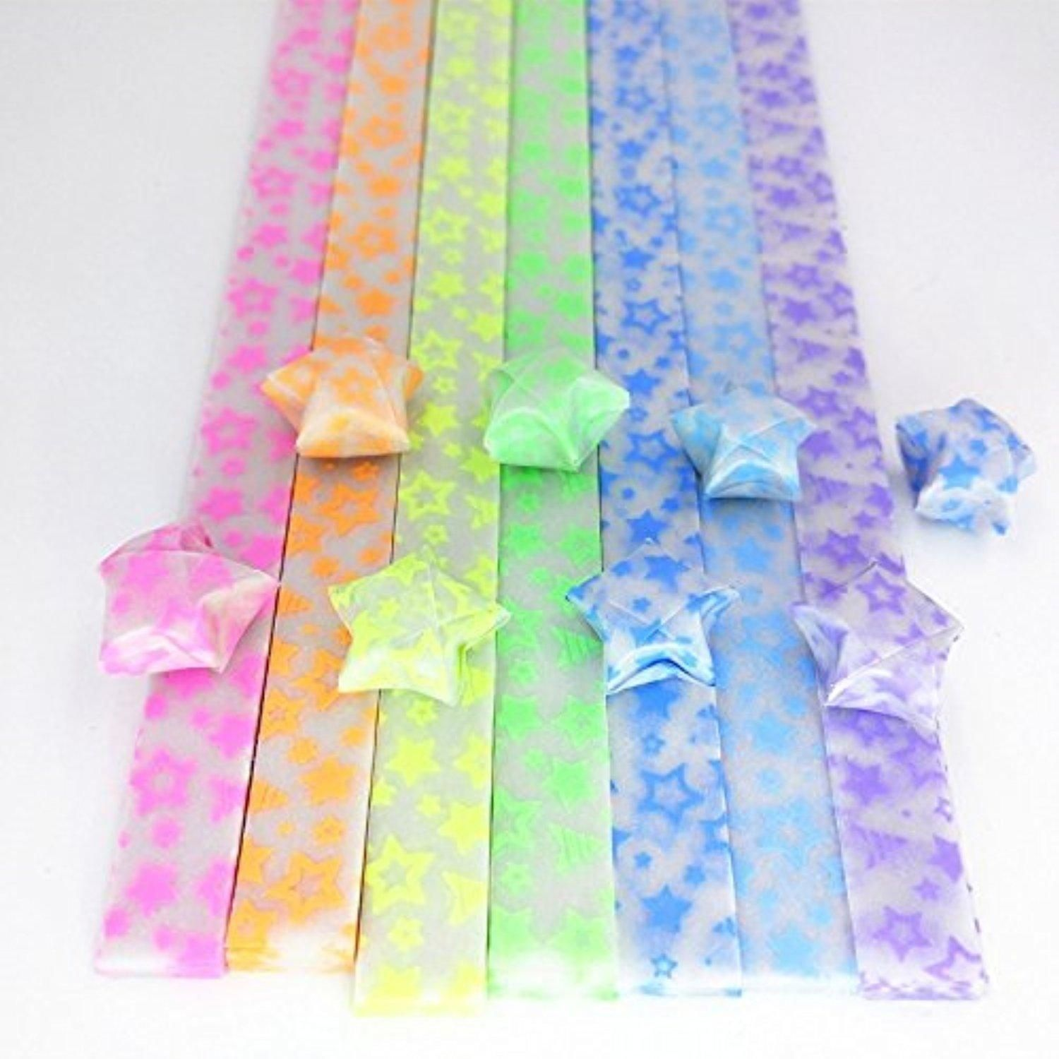 1080 Sheets Double Sided Origami Stars Paper 27 Colors