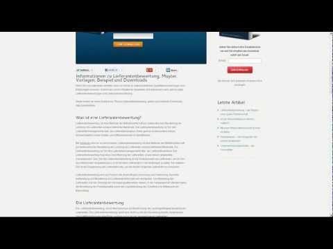lieferantenbewertung muster vorlagen beispiel und downloads - Lieferantenbewertung Muster