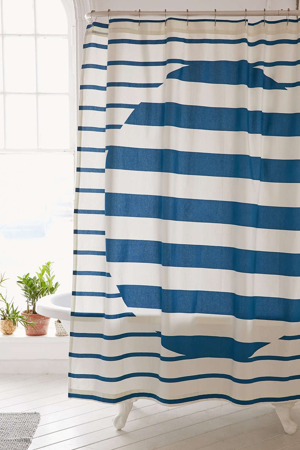 Alba Stripe Shower Curtain | Striped shower curtains, Dorm and ...