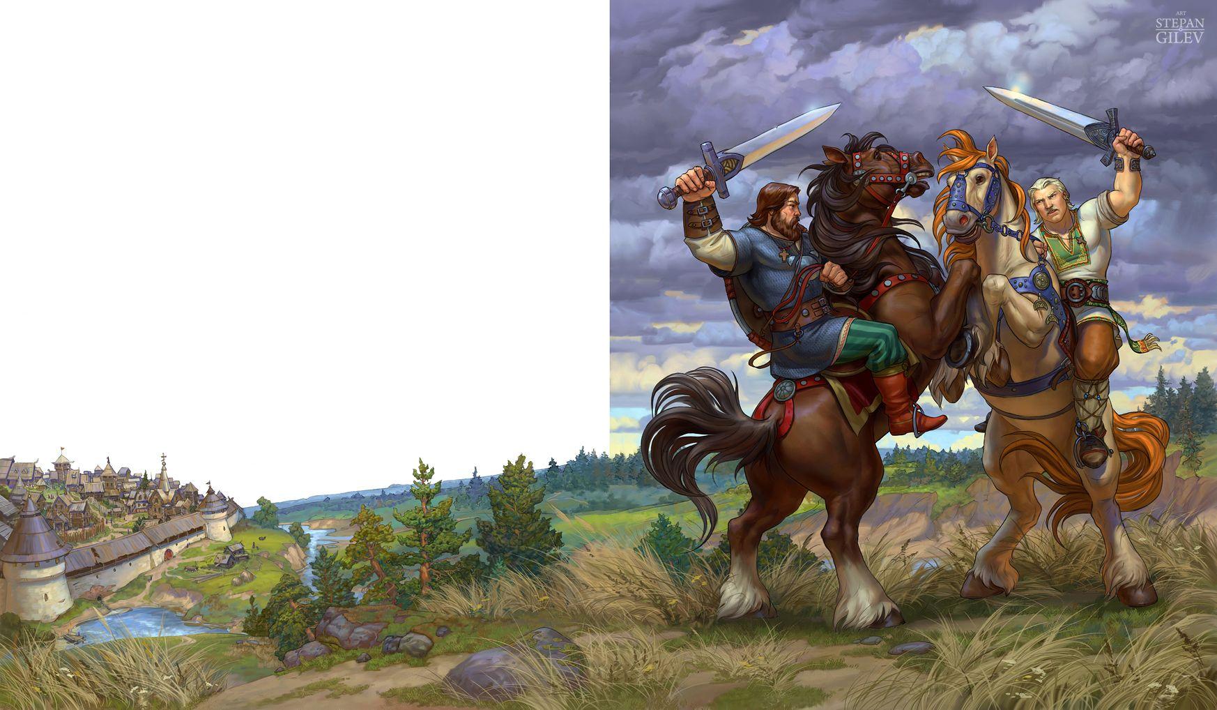 его картинка русского богатыря в бою своей жизни особенно