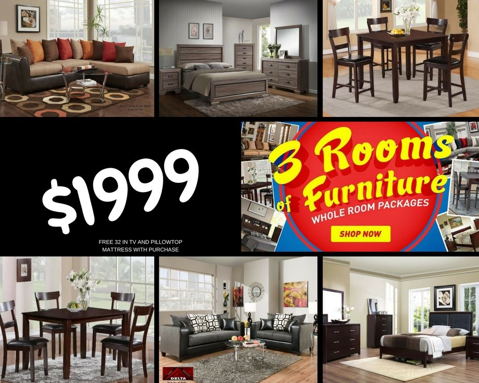 Choose A Queen Bedroom Set A Dining Room Set And A Living Room