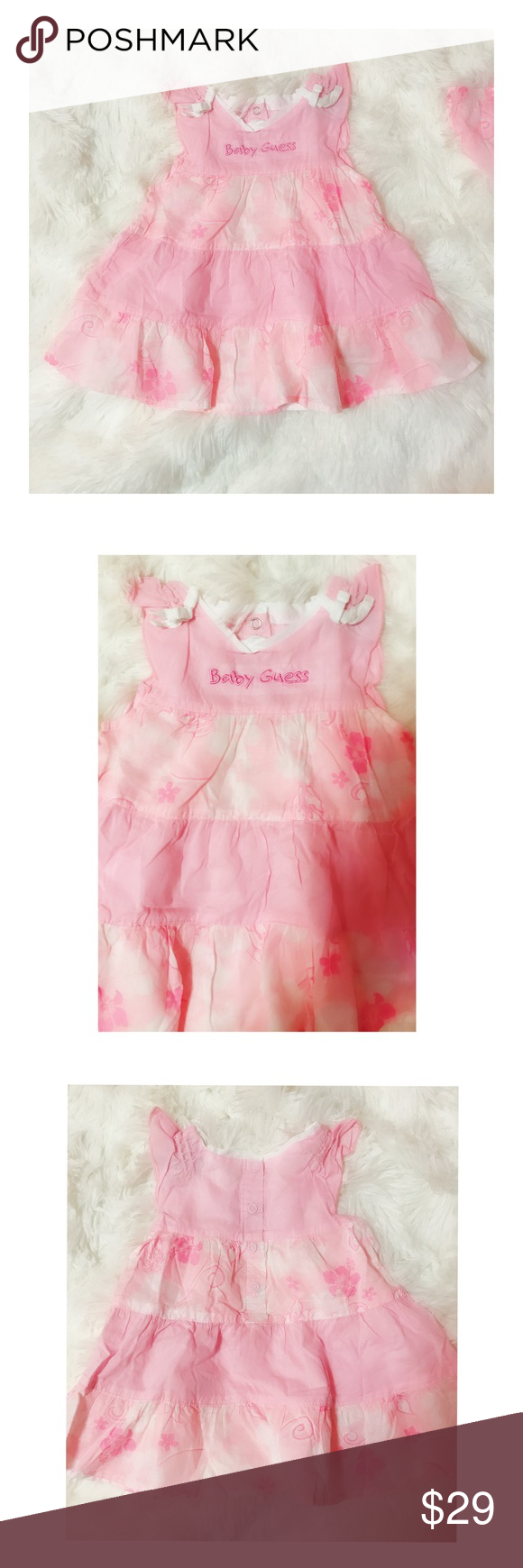 1087605663f6 Gorgeous pink baby guess dress condition worn only once or twice for a  special occasion guess