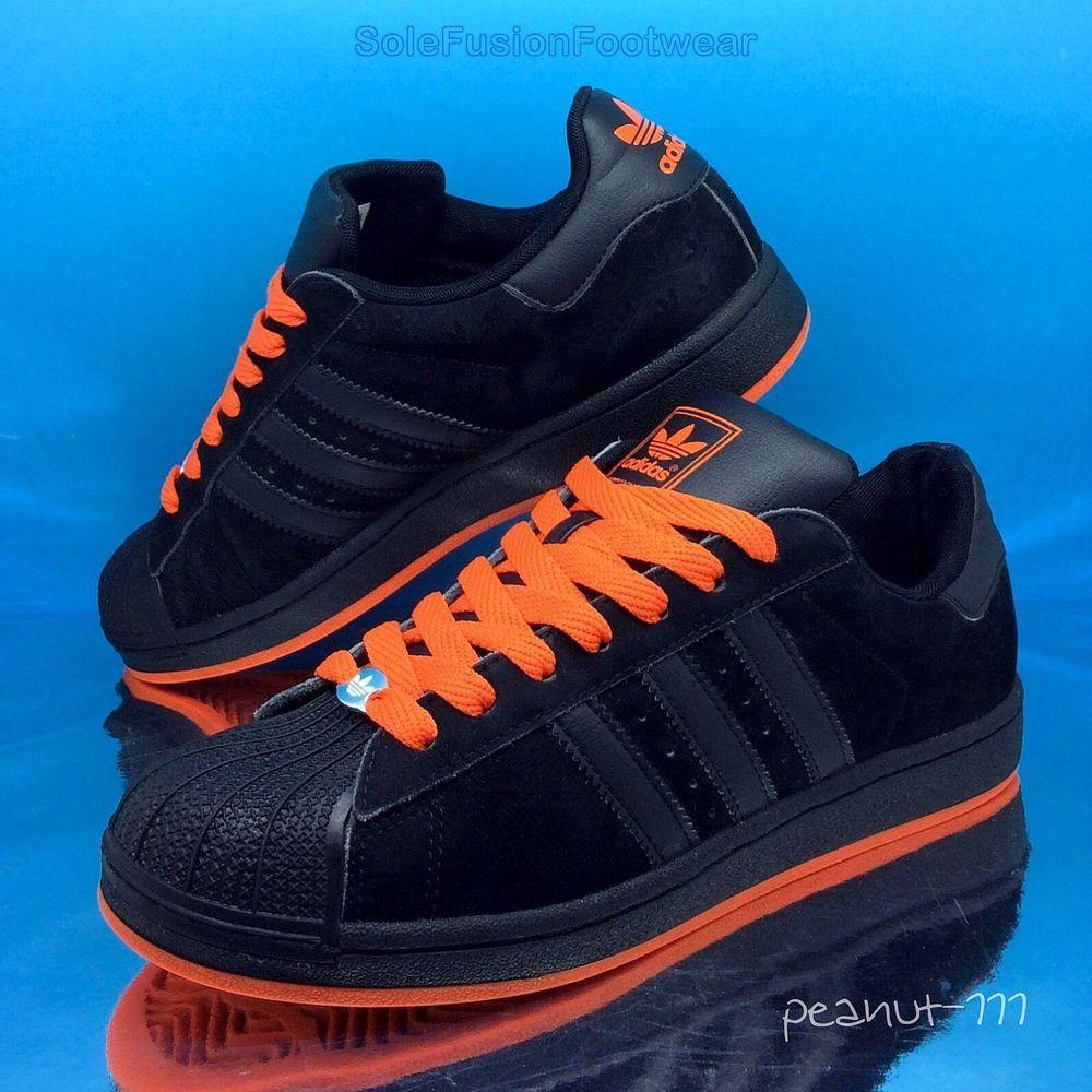 f3c7fe30b08a adidas Originals Mens Superstar Trainers Black Orange sz 7 Sneakers US 7.5  40.6 in Clothes