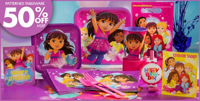 Choose your item Dora the Explorer Party Tableware and Decorations