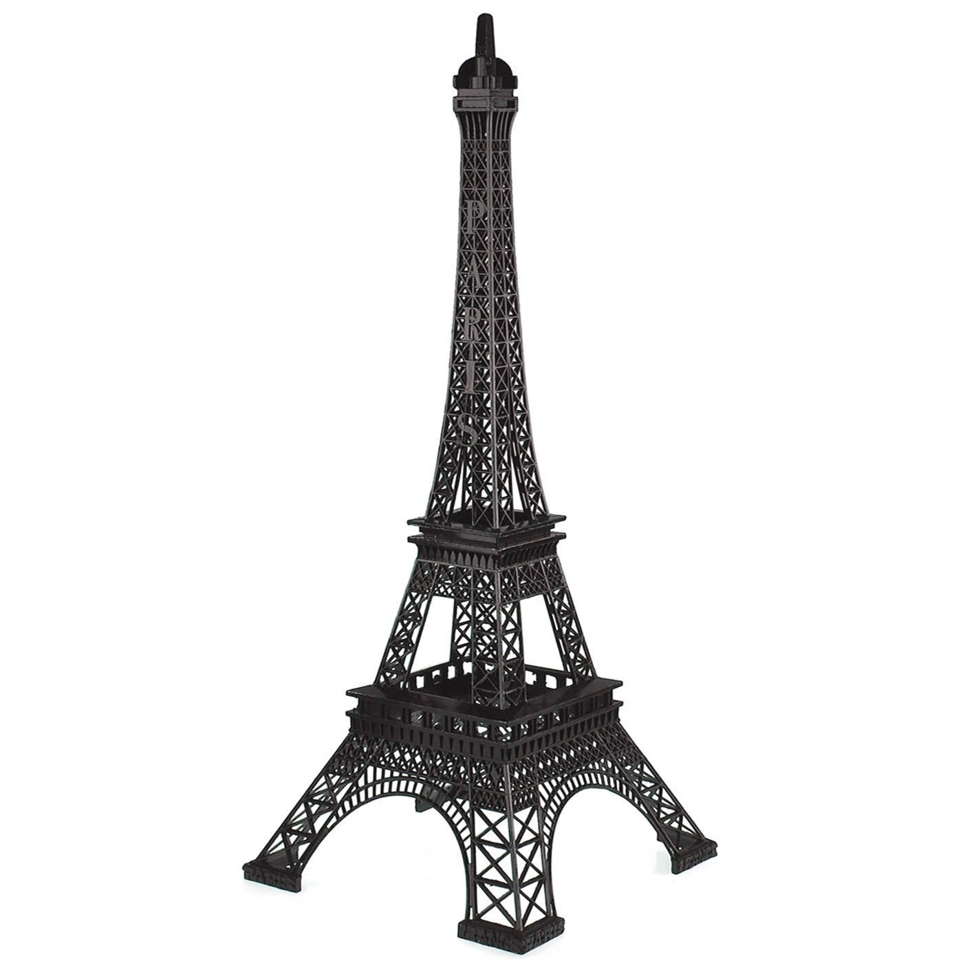 Paris France Eiffel Tower Stand, 20-inch, Black