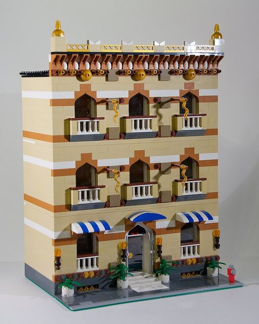 City Apartment Building Done In A Middle Eastern Style Using Parts From The Prince Of Persia Sets