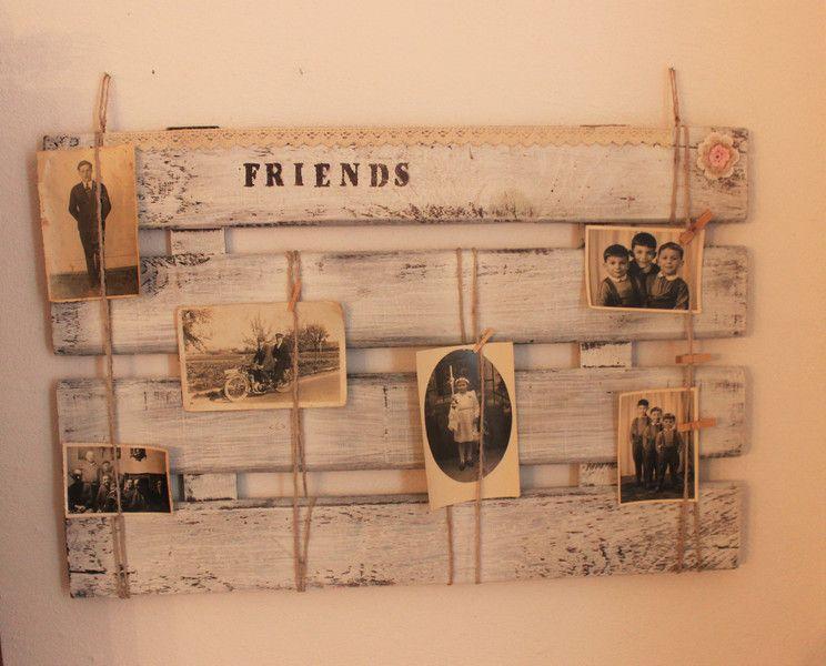 Deko-Objekte - Memoboard Shabby/Vintage Pinnwand Friends - ein Designerstück von Pfaennle bei DaWanda