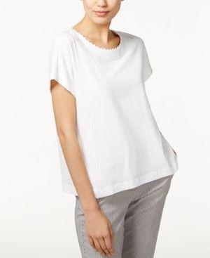 Weekend Max Mara Campus Beaded T-Shirt - White M