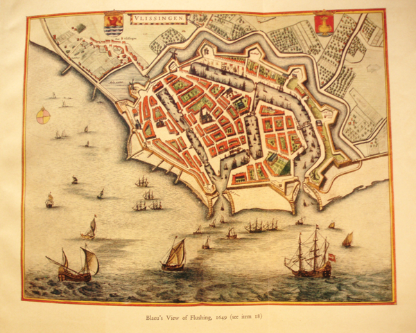 Figure 5 Blaeus View of Flushing 1649 foldout map from the