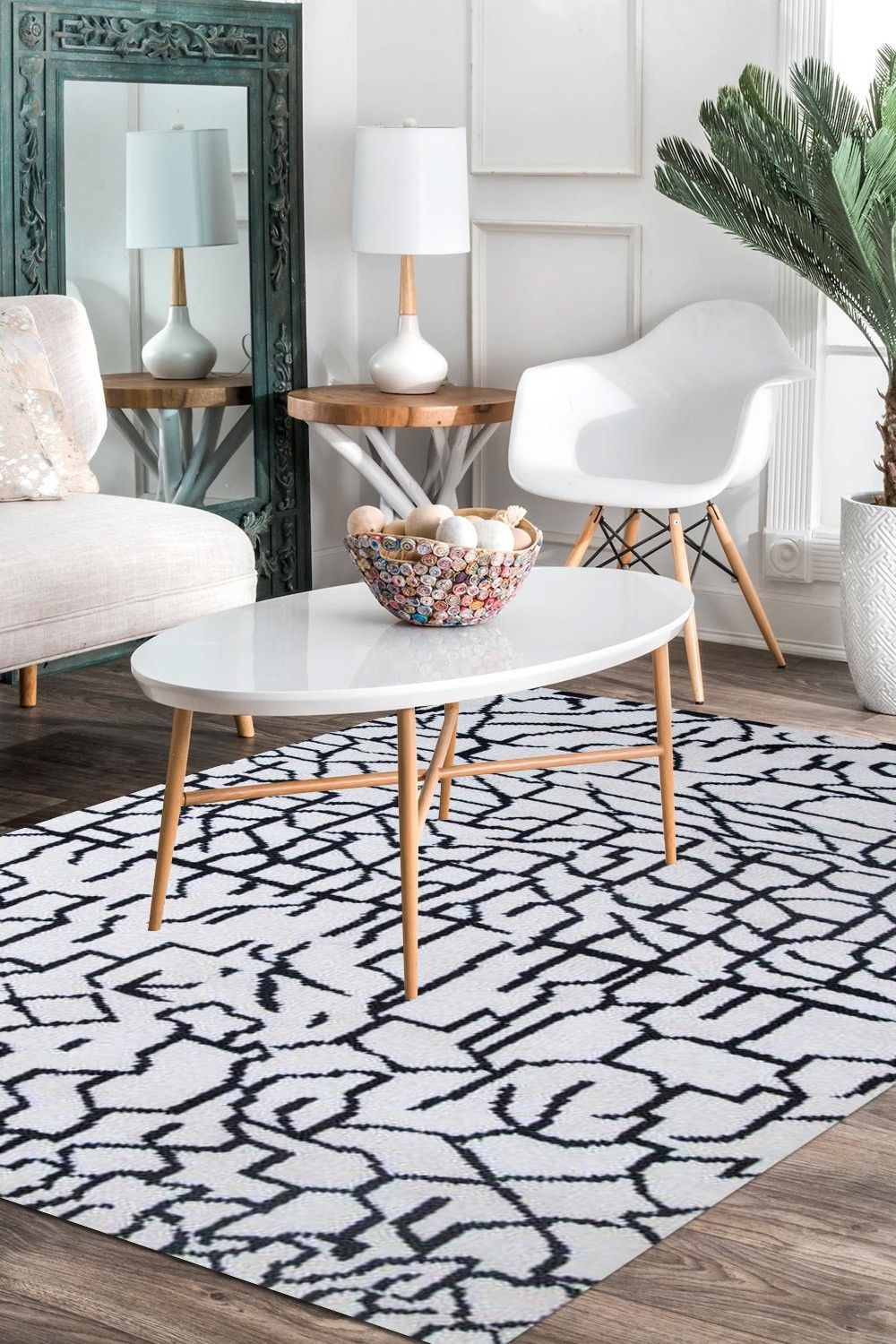 Find The Magnificent Dual Bw Beautiful Moroccan Rug At