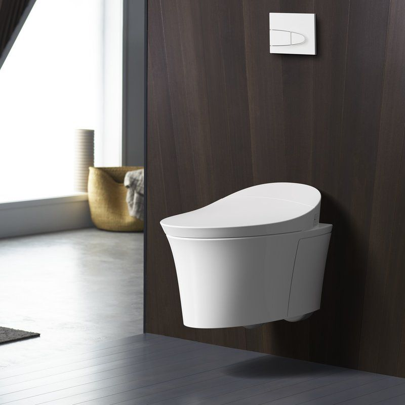 Veil Intelligent Wall Hung Toilet With Touchless Flush Wall Hung Toilet Kohler Veil Kohler