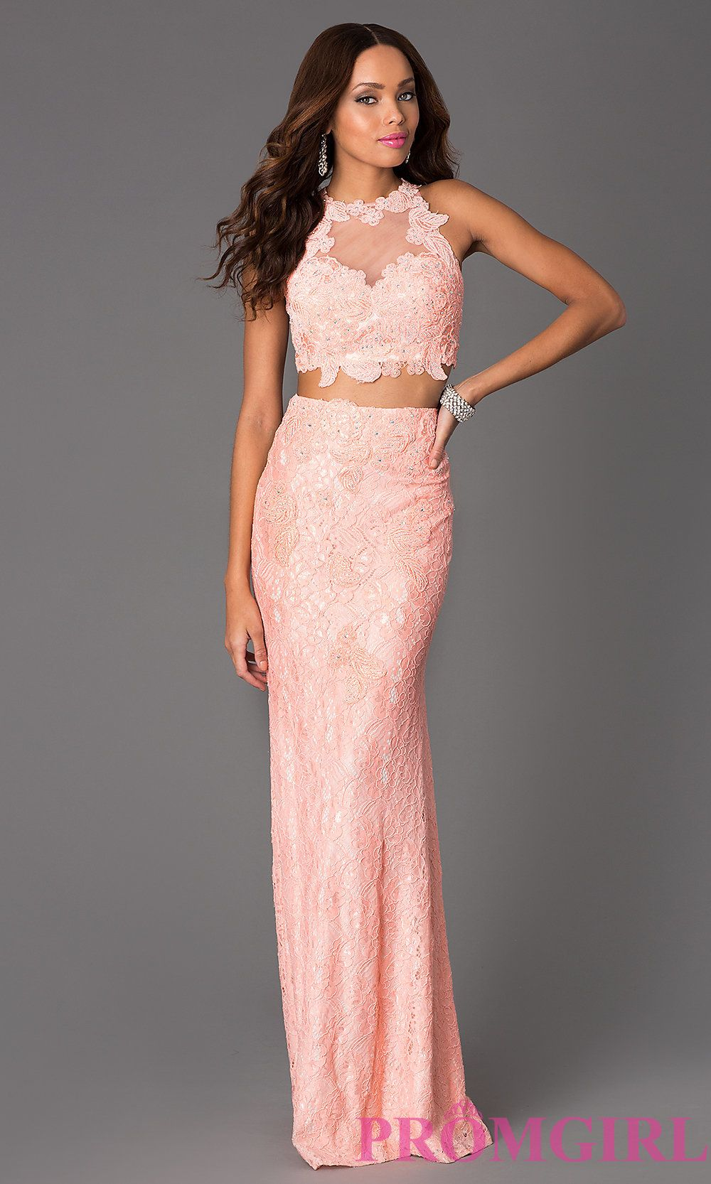 Image of Two Piece Floor Length JVN Jovani Dress Style: JO-JVN ...