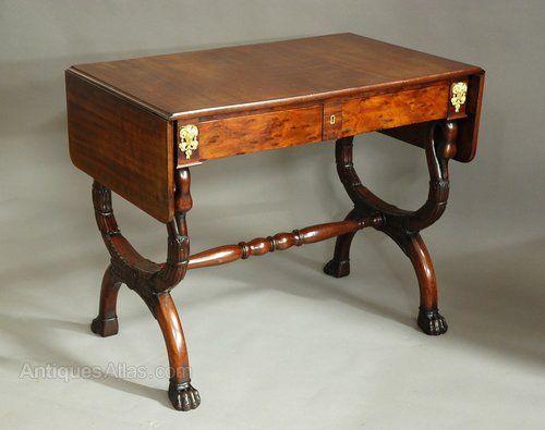 Early 19thc French Empire Mahogany Sofa Table Antiques