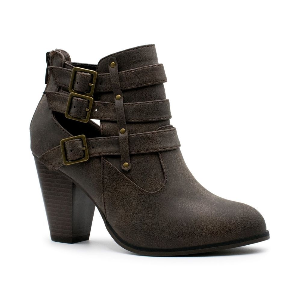 a53791b727c4 Titan Mall Forever Women s Buckle Strap Block Heel Ankle Booties Premier  Brown  fashion  clothing  shoes  accessories  womensshoes  boots  ad (ebay  link)