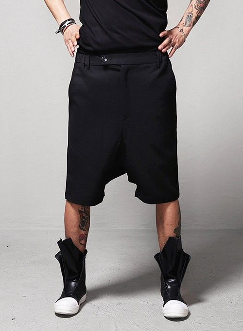 Drkncns GEO Paneled Banding Dress Shorts $48.60 #men #fashion ...