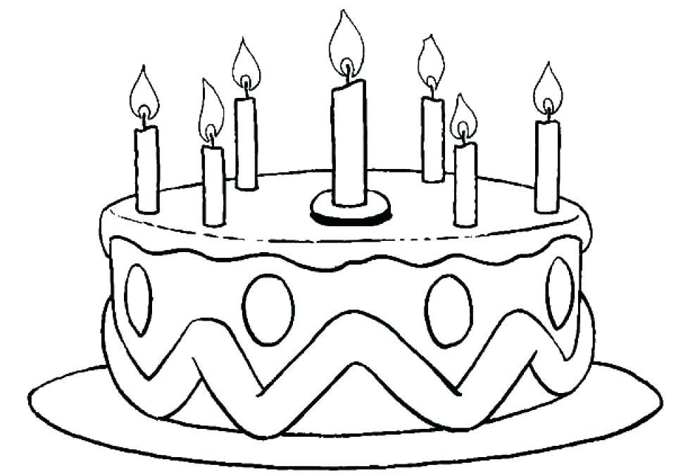 Free Birthday Cake Coloring Sheet coloring (With images