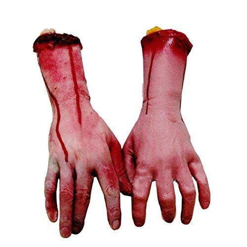 AMA(TM) 1pcs Halloween Horror Props Bloody Hand Bar Haunted House - animated halloween decorations
