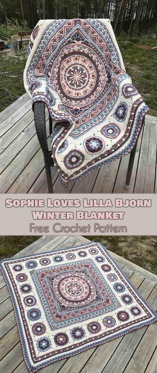 Sophie Loves Lilla Bjorn Winter Blanket [Free Crochet Pattern ...