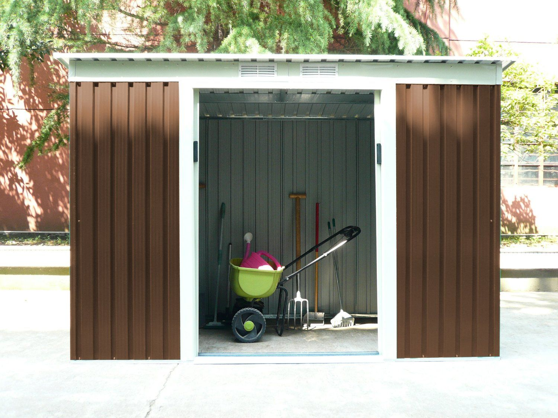 abri de jardin amazone Bentley garden - Abri-remise de jardin - zinc-métal - marron - 2
