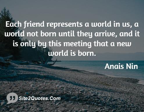 Anais Nin Friendship Quotes   Google Search