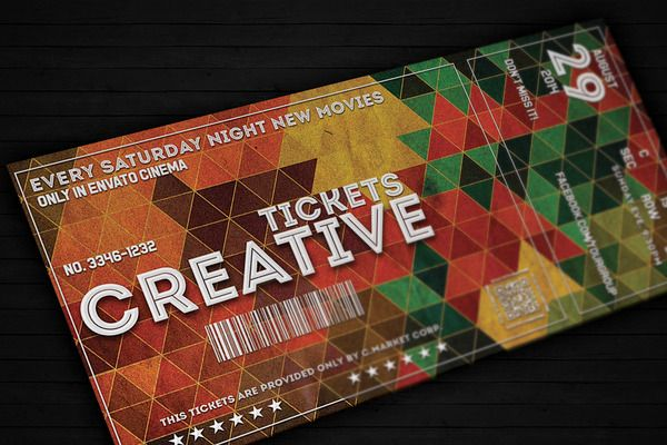 Creative ticket 01 | Ticket / Voucher / Money | Pinterest | Card ...