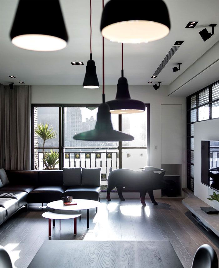 Dark And Moody Apartment Interior Asian Minimalism Interior Decor - A modern asian minimalistic apartment
