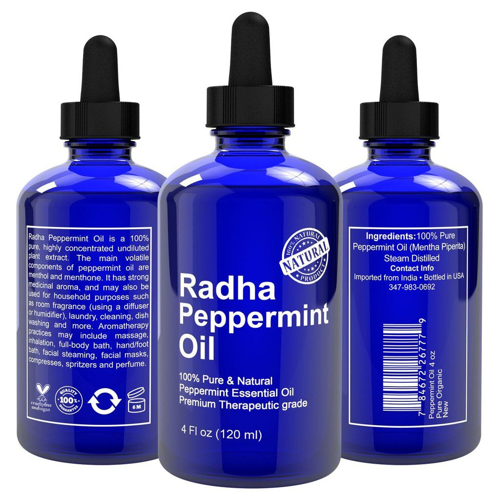 100 Pure Radha Peppermint Oil (With images) Healing dry