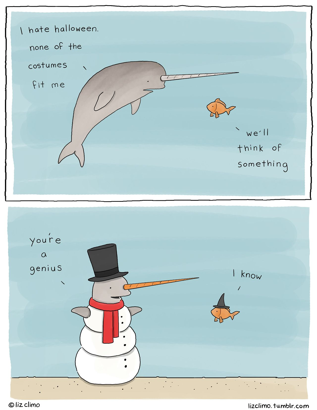 Narwhal and unicorn cartoon narwhal jokes funny pictures - Liz Climo Draws Comics Of Animals With Wry Senses Of Humor