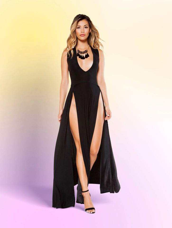 3ad90c3a76a maxi lengh dress with front slits. maxi lengh dress with front slits High  Fashion Dresses