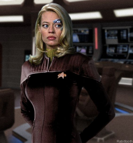 Would have been a agreat spin off 7 of 9 in Starfleet. Seven of Nine (born Annika Hansen) is a fictional character on the American science fiction television series Star Trek: Voyager, portrayed by actress Jeri Ryan. Born human, she was assimilated by the Borg at the age of six. Eighteen years later, the Federation starship Voyager escapes Borg space with Seven onboard after attempts to negotiate passage through Borg space proved only semi-successful.