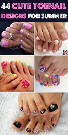 44 Easy And Cute Toenail Designs To Celebrate the Essence of