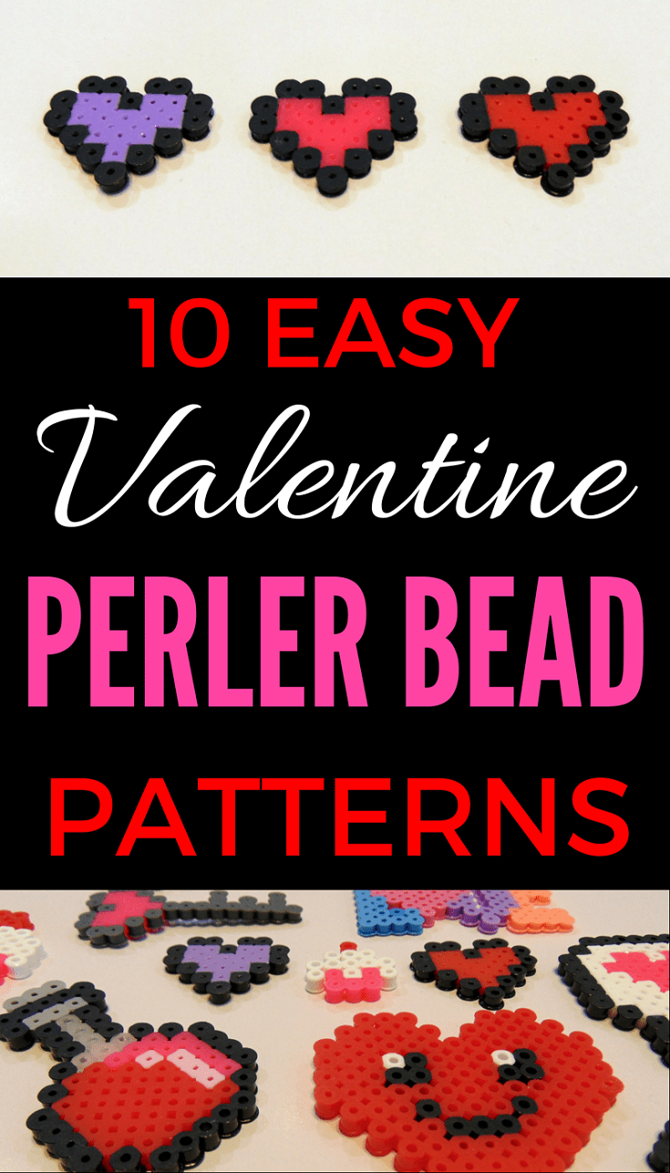 10 Easy Valentine Perler Bead Patterns Easy Perler Bead