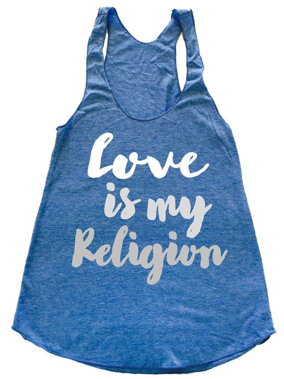 5f5d4ca74f1aa LOVE Is My Religion ombre - Triblend racerback Gym Tank