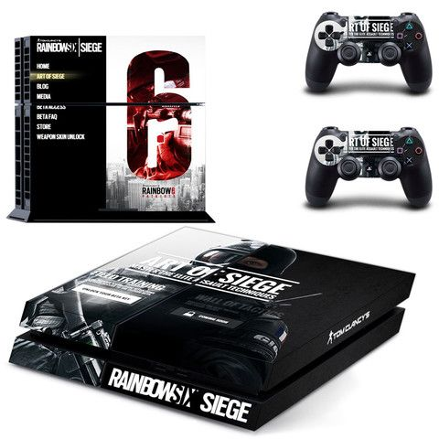 rainbow six siege design skin for ps4 decal sticker console & controllers - Decal Design