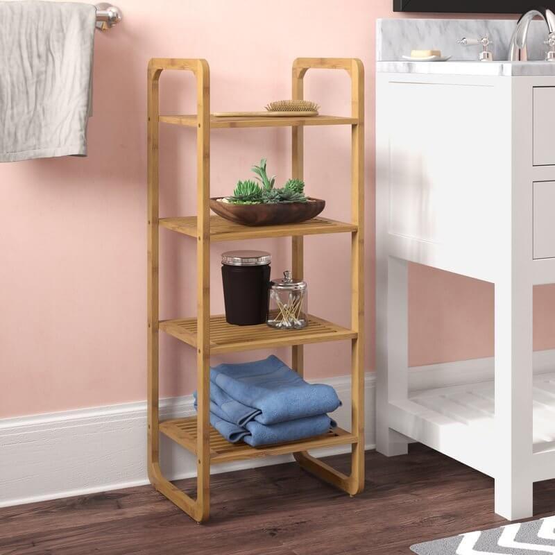 Teak Shower Shelf Buy From Gardener S Supply Com Imagens