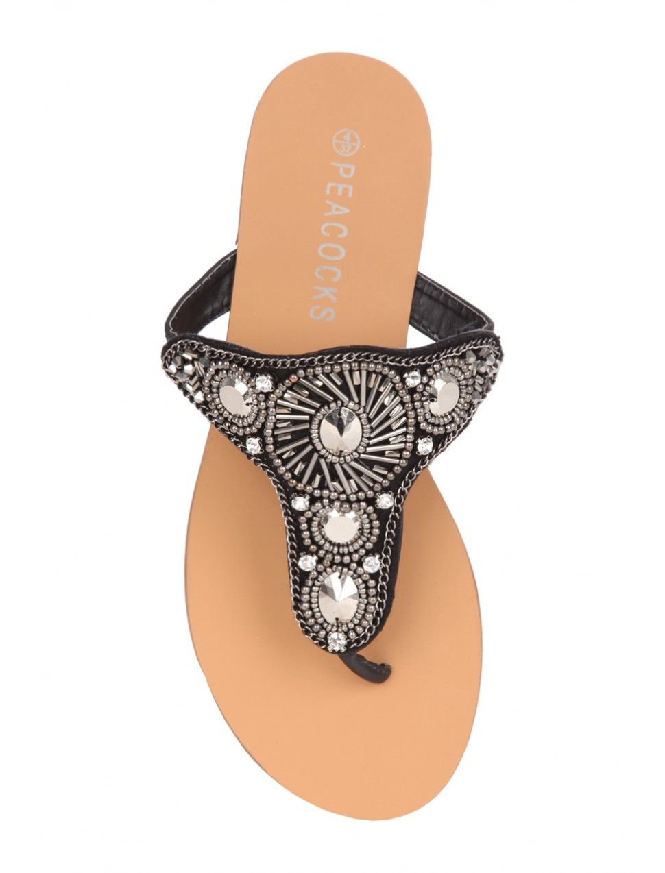 a7450f9f12b2b3 Dress up your feet in these pretty beaded flip flop sandals. Featuring a  flat sole