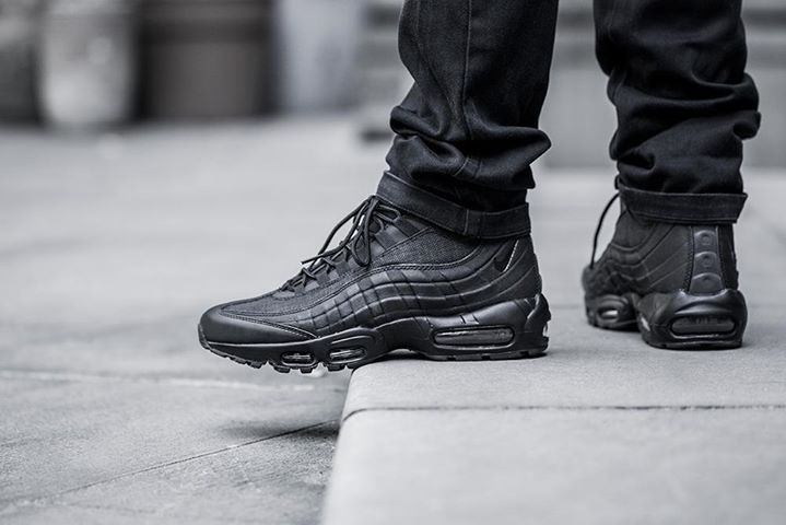 quality design 61083 b0641 On foot look at the Nike Air Max 95 Sneakerboot Black. Coming 1st October.