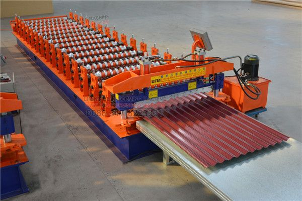 Today Let Us Learn More About Lm Automatic Corrugated Tile Sheet Roll Forming Machine Our Corrugated Tile Sh Roofing Corrugated Roofing Roofing Sheets